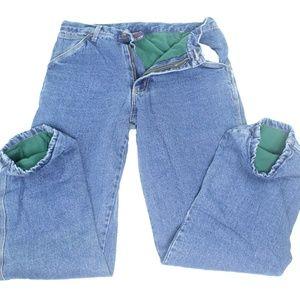 CROSSFIRE Fleece Lined Work Pants Jeans Carpenter
